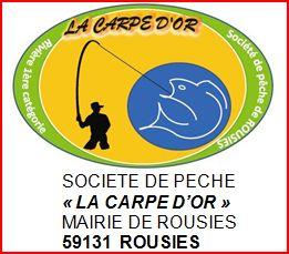 logo la carpe d'or de rousies société de pêche à la truite