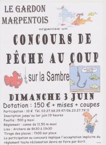 concours de pêche au blanc en Sambre le gardon Marpentois