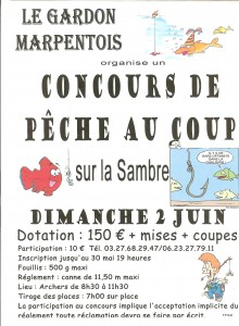 concours de pêche au coup 2 juin marpent championnats de france corpo
