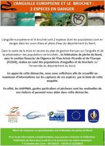 enquete federation de pêche anguille brochet